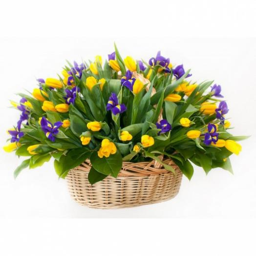 "Корзина ""Опять весна"": букеты цветов на заказ Flowwow"