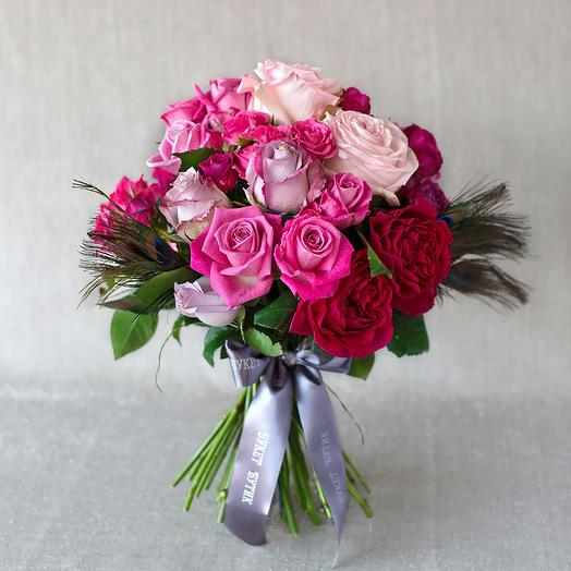 "Моно-букет из роз ""Милан"": букеты цветов на заказ Flowwow"