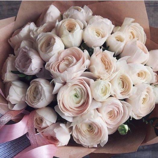 Букет из 49 Ранункулюсов: букеты цветов на заказ Flowwow