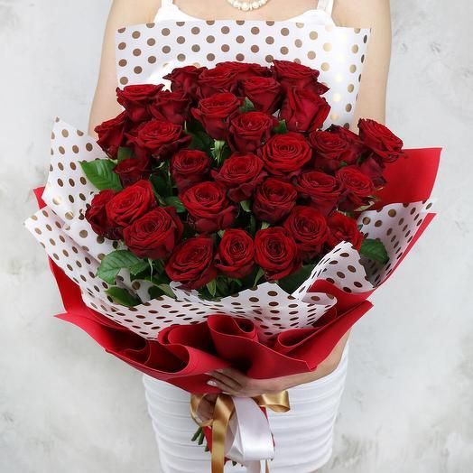 Букет из 33 красных роз: букеты цветов на заказ Flowwow