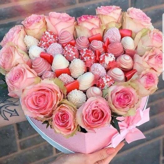 """Коробочка """" Воздушные поцелуи """": букеты цветов на заказ Flowwow"""