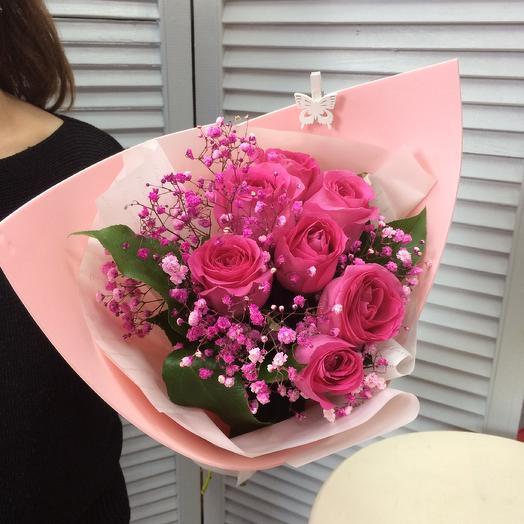 Розы для любимой️: букеты цветов на заказ Flowwow