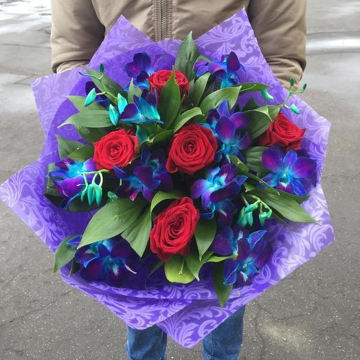 Синие орхидеи: букеты цветов на заказ Flowwow