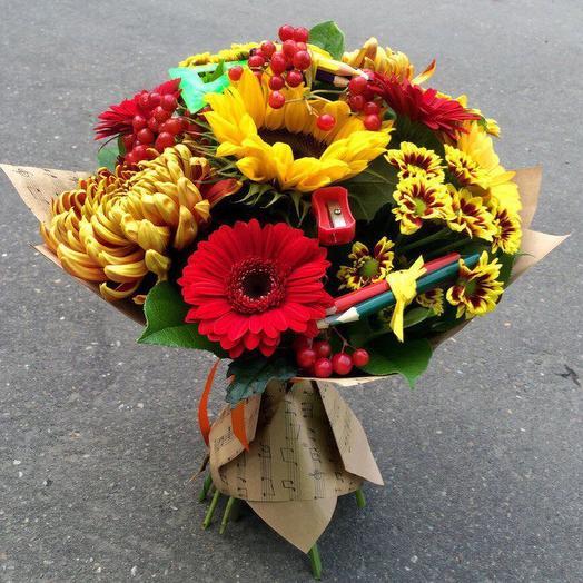 Букет с подсолнухом 5: букеты цветов на заказ Flowwow