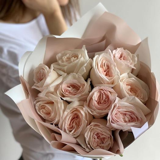 Монобукет из пионовидны роз: букеты цветов на заказ Flowwow