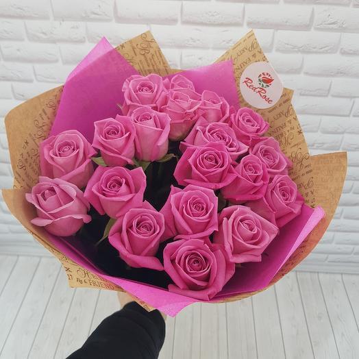 19 роз Аква: букеты цветов на заказ Flowwow