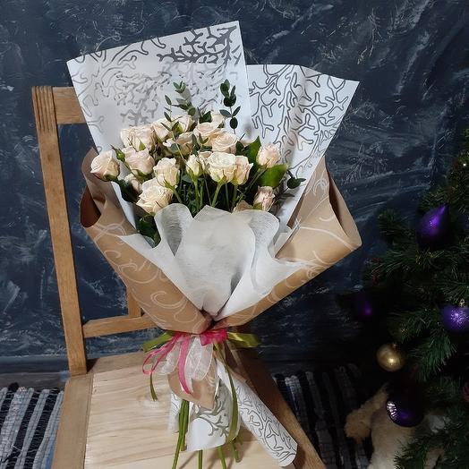 Кремовый восторг: букеты цветов на заказ Flowwow