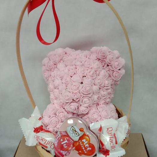 Мишка для Любимой: букеты цветов на заказ Flowwow