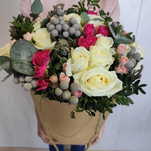 Букет из цветов Утро в Париже: букеты цветов на заказ Flowwow