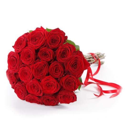 21 Красная роза 90 см