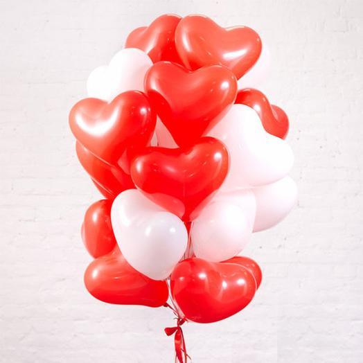 Набор «Сердца латекс»: букеты цветов на заказ Flowwow