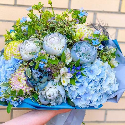 Букет Голубая лагуна: букеты цветов на заказ Flowwow