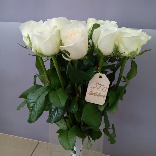 """Белые розы """"С любовью"""""""