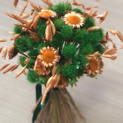 Букетик сухоцветов Зелень