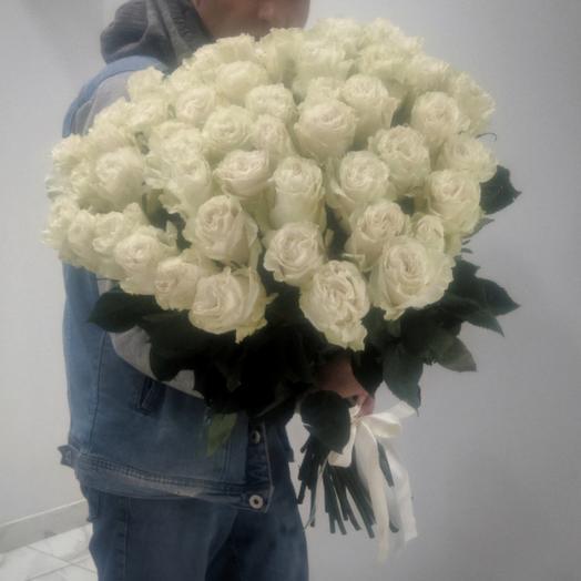 Большой букет из 51 эквадорской розы 60 см