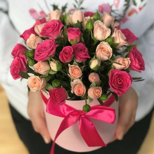 Мини комплимент из кустовых роз