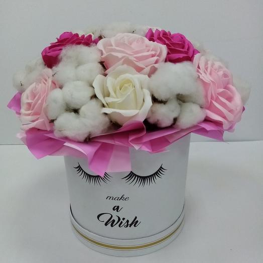 """Цветы в коробке """"Мила"""""""