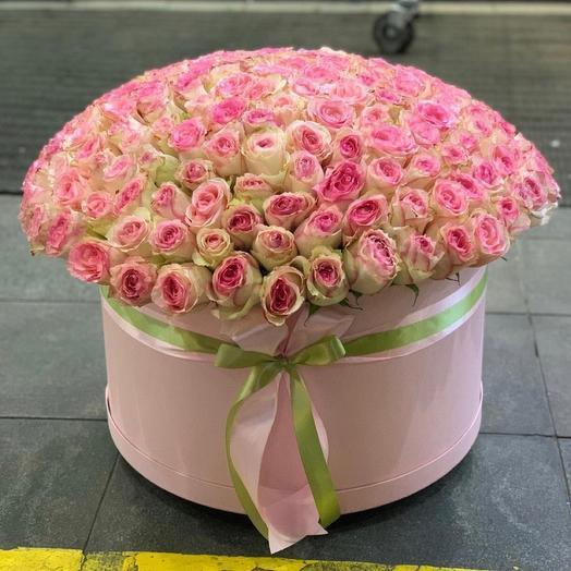 Цветы в коробке 201 Эквадорская Роза