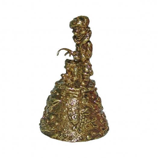 Колокольчик из бронзы Рыбак 5,5 см