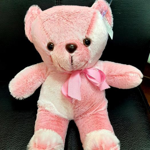 Мишка нежно розовый