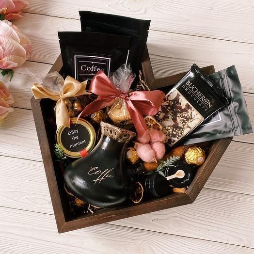 Подарочный набор кофейный «Coffee Heart» / Кофейный подарок / Подарок женщине