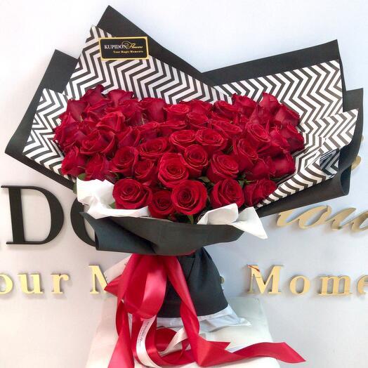 Букет-ГИГАНТ на 51 розу