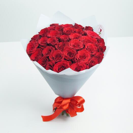 35 красная роза