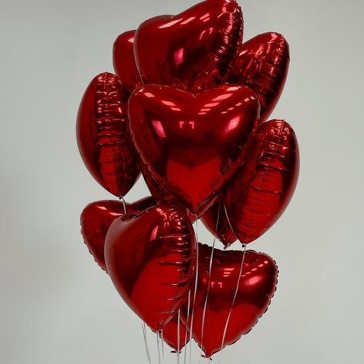 Набор шаров из 12 сердец