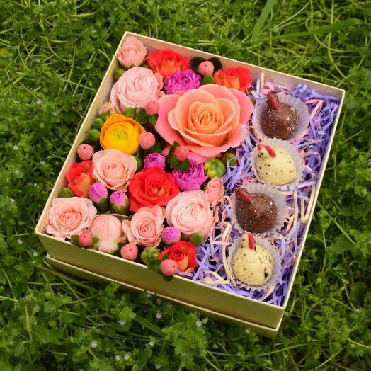 Подарочный набор Цыпочки и цветы