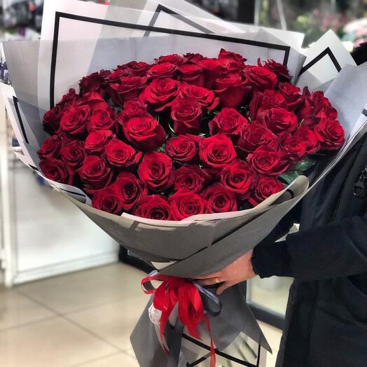 55 эквадорских роз