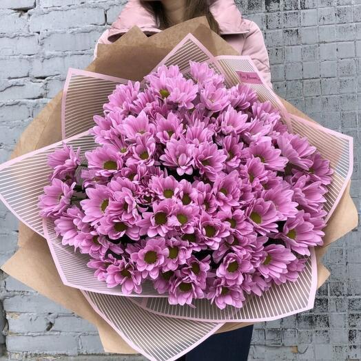 Нежный букет хризантем