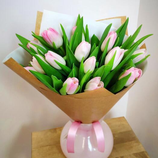 Тюльпаны розовые премиум