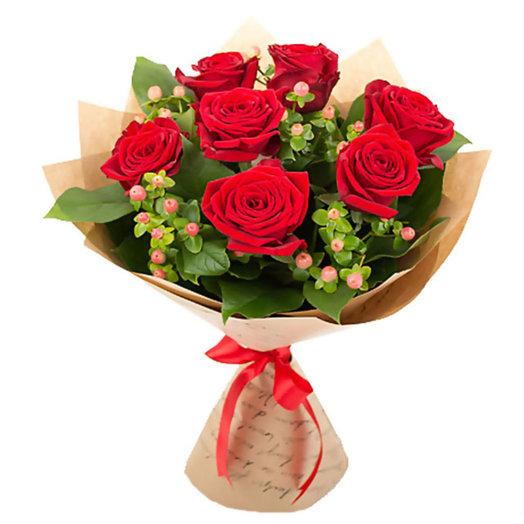 Букет из роз Багрянец: букеты цветов на заказ Flowwow