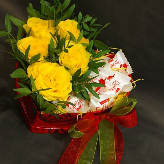 """Коробочка """"Heart"""": букеты цветов на заказ Flowwow"""