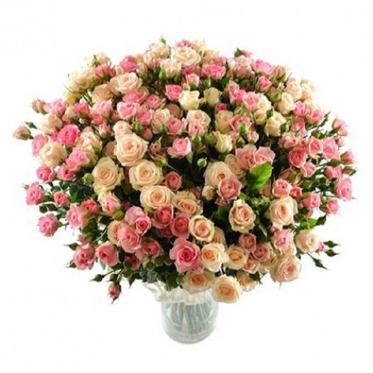39 кустовых роз Яна и Лидия: букеты цветов на заказ Flowwow