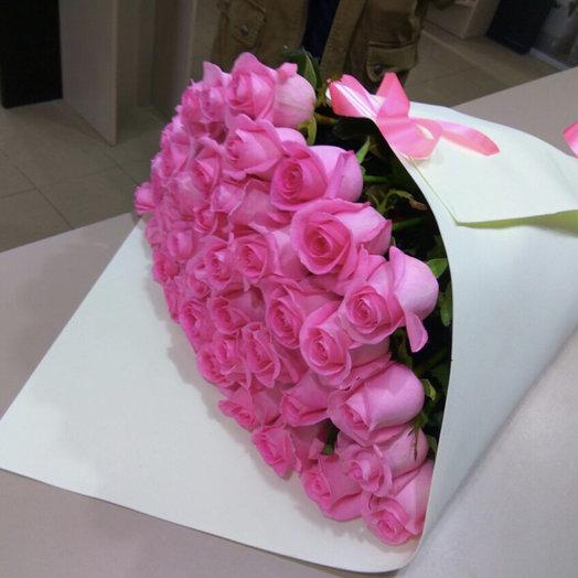 Наслаждение розовым: букеты цветов на заказ Flowwow