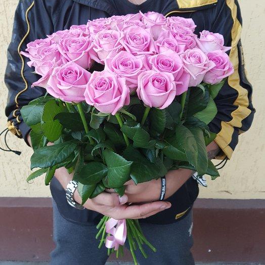 Букет из розовых роз. 29 розовых роз (70 см): букеты цветов на заказ Flowwow
