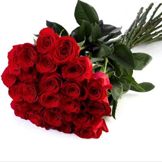 Букет из 25 роз Эквадор Фридом: букеты цветов на заказ Flowwow