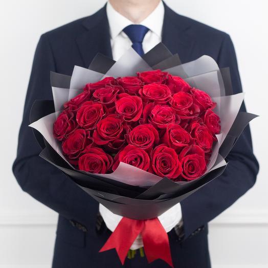 Букет из 23 эквадорских роз: букеты цветов на заказ Flowwow