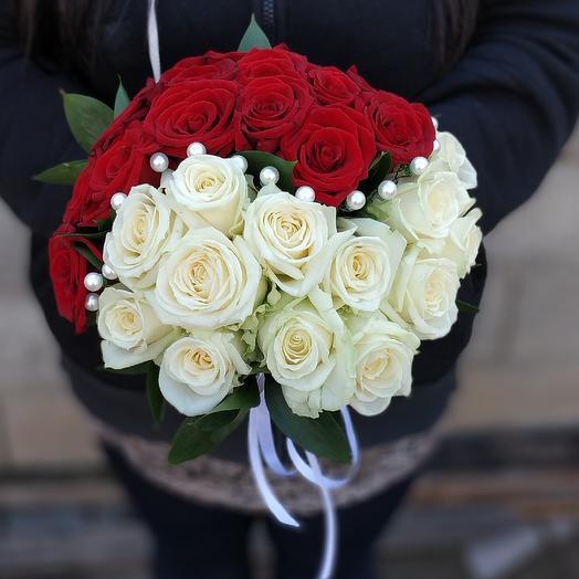 """Свадебный букет """"Инь-Янь"""": букеты цветов на заказ Flowwow"""