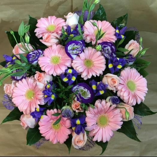 Букет с герберами: букеты цветов на заказ Flowwow