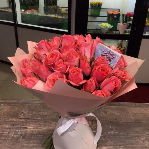 Букет из 49 кенийских роз: букеты цветов на заказ Flowwow