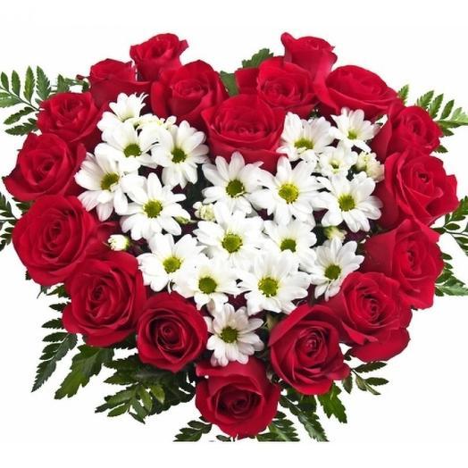 Сердце Невабукета: букеты цветов на заказ Flowwow