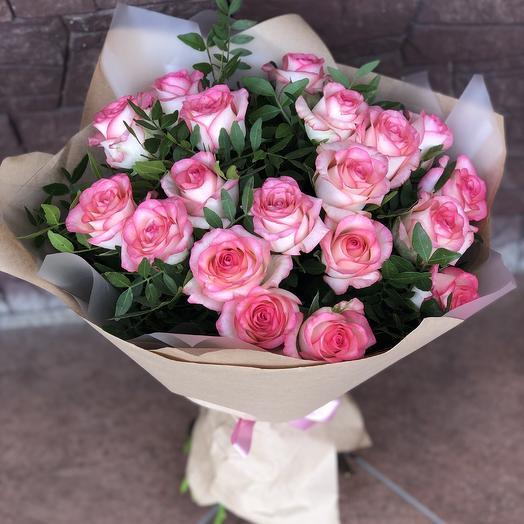 Букет 15 джумилия с оформлением: букеты цветов на заказ Flowwow
