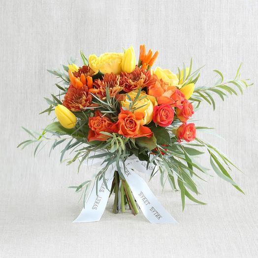 "Компактный букет ""Для Льва"": букеты цветов на заказ Flowwow"