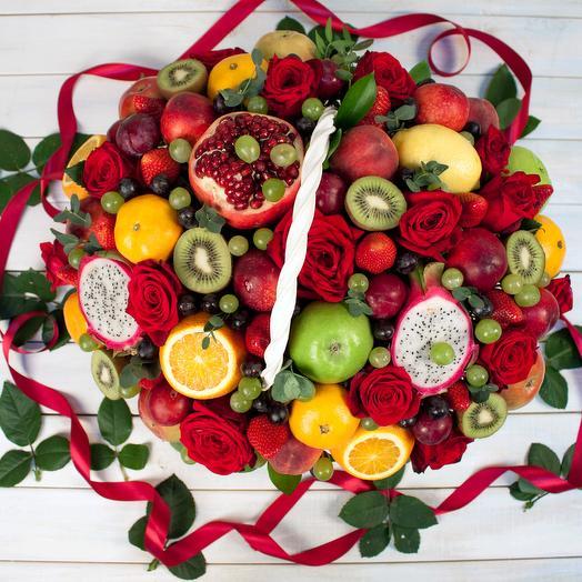 Фруктовая корзина XL: букеты цветов на заказ Flowwow