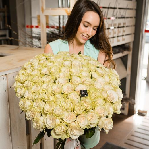 101 роза 60 см Premium