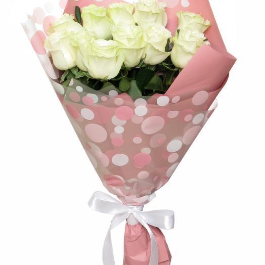 11 роз в матовой пленке: букеты цветов на заказ Flowwow