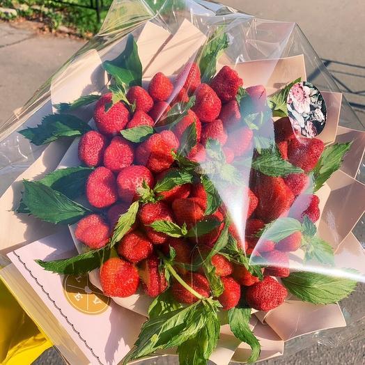 Букет из клубники с мятой: букеты цветов на заказ Flowwow