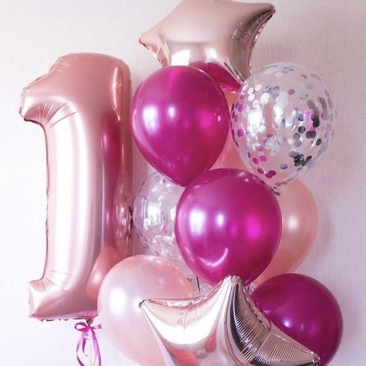 Композиция из шаров «Нам 1 годик»: букеты цветов на заказ Flowwow